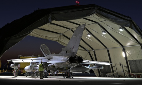 An RAF Tornado jet in Cyprus following air strikes against Isis in Iraq on Tuesday.