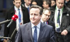 David Cameron in Brussels, 18 December