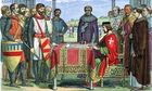 Image of King John signing Magna Carta