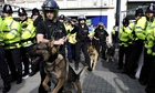 Police at far-right anti-radical Islam rally 2009