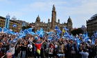 Scottish independence supporters, Galsgow