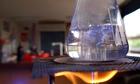 Bunsen burner with vessel