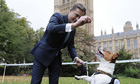Conservative MP for Hendon  Matthew Offord and his dog Maximus in the Westminster Dog of the Year