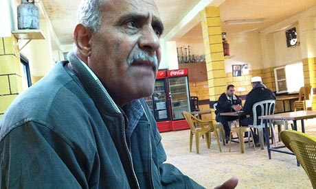Ibrahim Khamis in the Al-Amari cafe in a Ramallah refugee camp