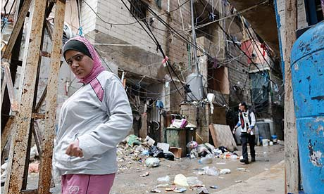 Sabra-Shatila refugee camp in Beirut, which is bracing for an influx of Palestinians fleeing Yarmouk