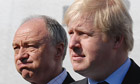 The London mayoral candidates Ken Livingstone, left, and Boris Johnson at the unveiling of a poster