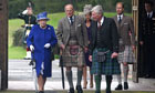 Prince Philip (second left), with the Queen at the royal estate in Balmoral last week.