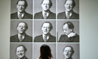 Photographs of Kurt Schwitters performing his poem 'Ursonate', at Tate Britain in London