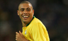 Brazil's Ronaldo celebrates after scoring during the 2006 World Cup