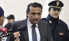 Francesco Schettino, the captain of the Costa Concordia, arrives at his trial.