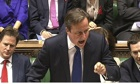 David Cameron in the Commons at Prime Minister's Questions