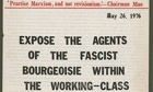 A pamphlet of the fringe London-based Workers' Institute of Marxism-Leninism-Mao Tsetung Thought