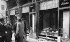 Damaged Jewish Owned Storefront after Kristallnacht pogrom