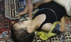A child is given oxygen after the gas attack in the al-Ghouta distri