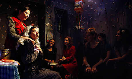 Microtheatre for Money in a Madrid flat. Pop-up theatres have revitalised Spain's arts drama scene