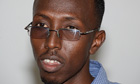 Abdullahi Ahmed Nor, a Somali journalist sentenced to a year in jail for interviewing a rape victim