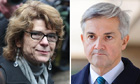 Vicky Pryce and her ex-husband Chris Huhne, who are starting eight-month prison terms.