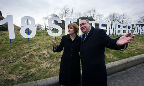 Scottish first minister Alex Salmond and deputy Nicola Sturgeon announce date of referendum