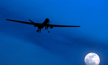 A US Predator drone in Afghanistan. Britons are split over whether such attacks make the west safer