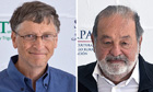 World's three richest: Mexican Carlos Slim, Microsoft's Bill Gates and Zara boss Amancio Ortega