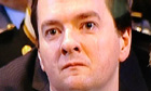 George Osborne crying at Margaret Thatcher's funeral in St Paul's Cathedral.