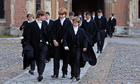 Pupils at Eton College, a school founded in 1440 that counts 18 prime ministers among its old boys.