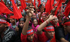 Bangladeshi protesters in Dhaka call for better working conditions, one of scores of May Day rallies