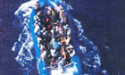 A picture of the migrant boat taken before it lost power and began to drift.