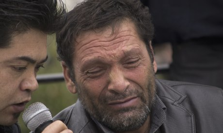Afghan migrant Fadi Mohamed, who lost his wife and children when the boat sank off Farmakonisi