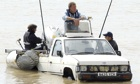 'Top Gear' presenters attempt to sail the Channel in three cars, Dover, Kent, Britain - 19 Jul 2007