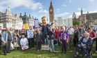 London rally celebrates freedom of speech and opposes Gagging Law
