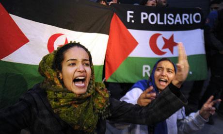 Sahrawi protester