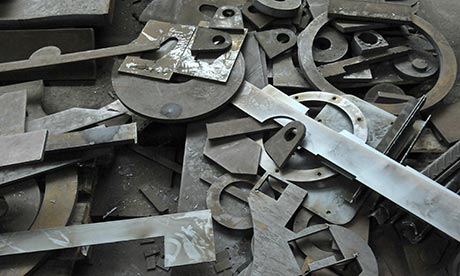 Scrap metal parts in Slovenia