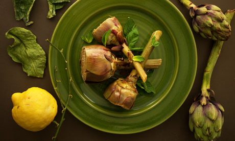Gwyneth Paltrow's artichokes with basil and mint.