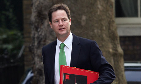 Nick Clegg arrives in Downing Street on 6 July 2010.