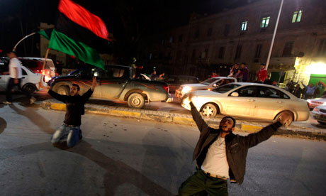 Libyans celebrate UN no fly zone resolution