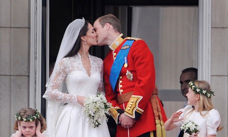 Balcony Kiss - Royal Wedding Front