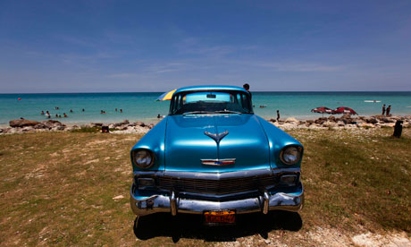 A 1956 Chevrolet car in Cuba