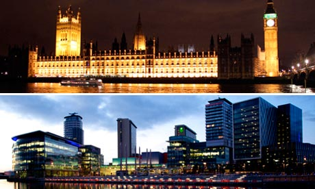 Salford Quays and House of Parliament