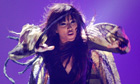 Loreen of Sweden performs her song Euphoria at Eurovision