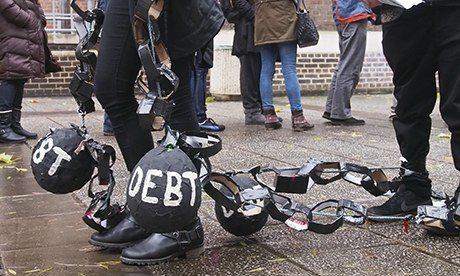 Students protest debts