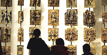16thC Benin brass plaques at the British Museum