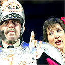 Nicholas le Prevost and Harriet Walter in Much Ado About Nothing