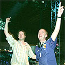 DJs Jon Carter and Fatboy Slim in Japan