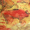 Part of the 14,000-year-old Altamira cave paintings in Spain