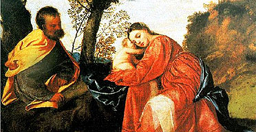 Rest on the Flight into Egypt by Titian