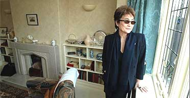 Yoko Ono at John Lennon's restored childhood home