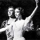 Sylvie Guillem with Rudolf Nureyev in Giselle at the Royal Opera House in 1988