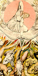 Detail from Downfall of the Rebel Angels by William Blake