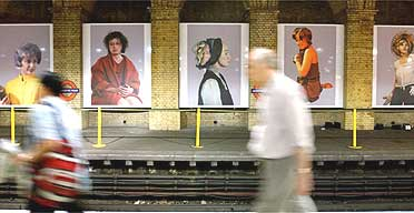 Cindy Sherman exhibition, Gloucester Road tube